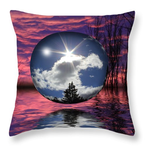 Sphere Throw Pillow featuring the photograph Contrasting Skies by Shane Bechler