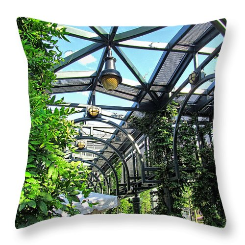 Building Throw Pillow featuring the photograph Converted Train Stop by Mark Sellers
