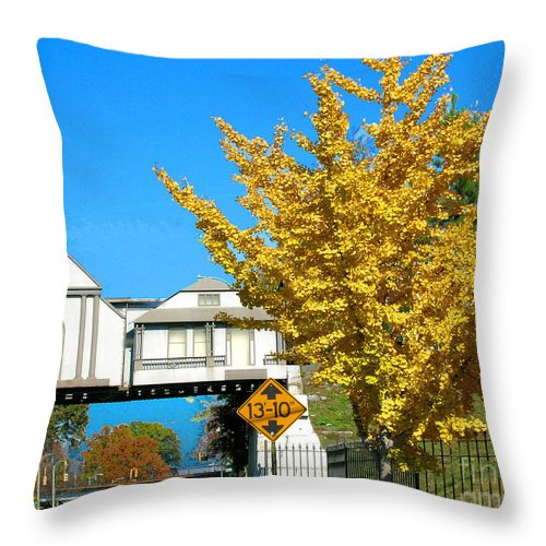 Trestle Throw Pillow featuring the photograph Cooper Young Trestle Looking North by Lizi Beard-Ward