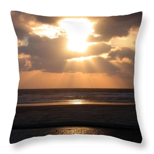 Sunset Throw Pillow featuring the photograph Copper Sunset Stroll by Will Borden