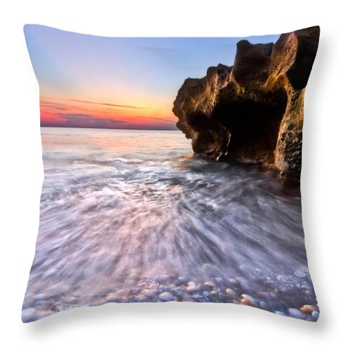 Clouds Throw Pillow featuring the photograph Coquillage by Debra and Dave Vanderlaan