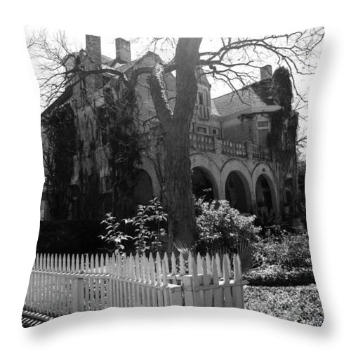 Architecture Throw Pillow featuring the photograph Corner House by Nina Fosdick