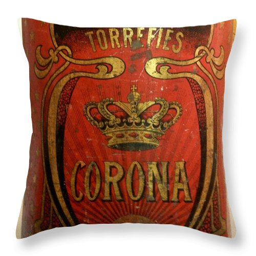 Labels Throw Pillow featuring the photograph Corona by Newel Hunter
