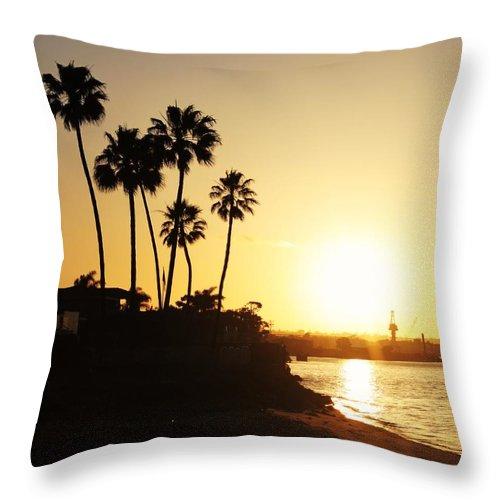 Coronado Island Throw Pillow featuring the photograph Coronado Sunset by Caroline Lomeli