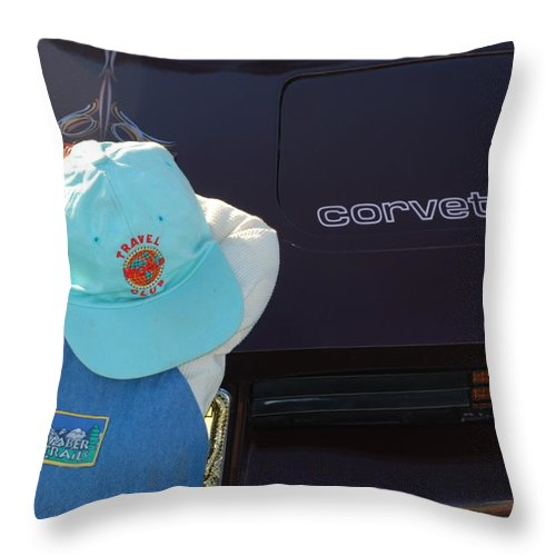 Corvette Throw Pillow featuring the photograph Corvette Crier by Richard Bryce and Family