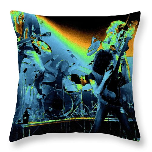 Derringer Throw Pillow featuring the photograph Cosmic Derringer Electrify Spokane 2 by Ben Upham