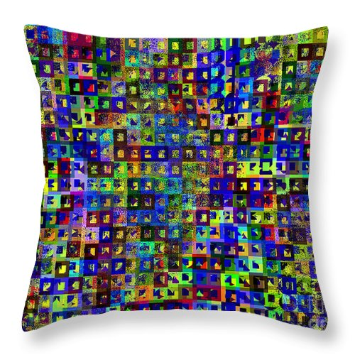 Ebsq Throw Pillow featuring the digital art Cosmically Dusted by Dee Flouton