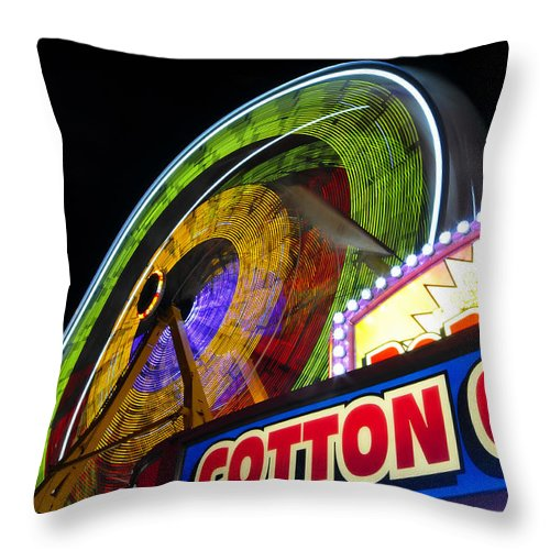 Fine Art Photography Throw Pillow featuring the photograph Cotton Candy Fun by David Lee Thompson