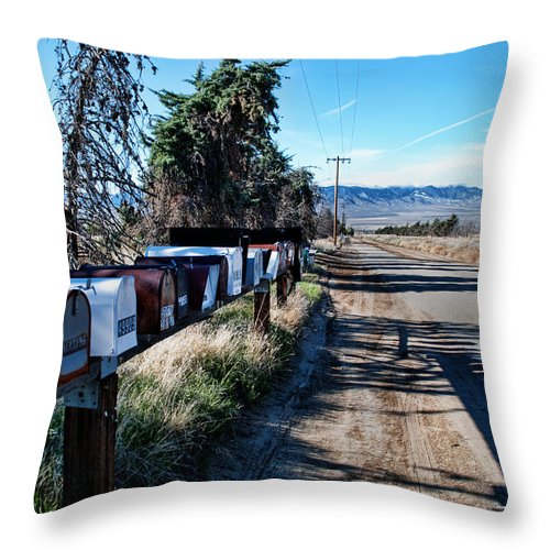 Mail Throw Pillow featuring the photograph Country Road by Norma Warden