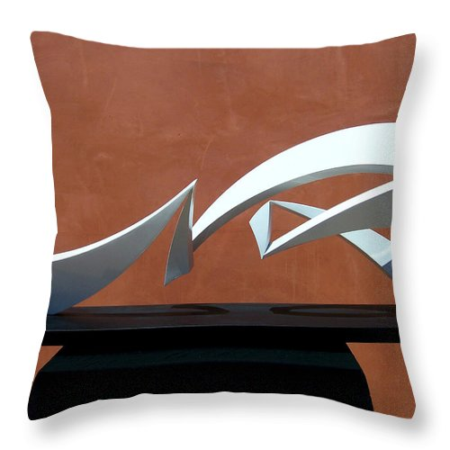 Sculpture Throw Pillow featuring the sculpture Courtship Of Amphitrite by John Neumann
