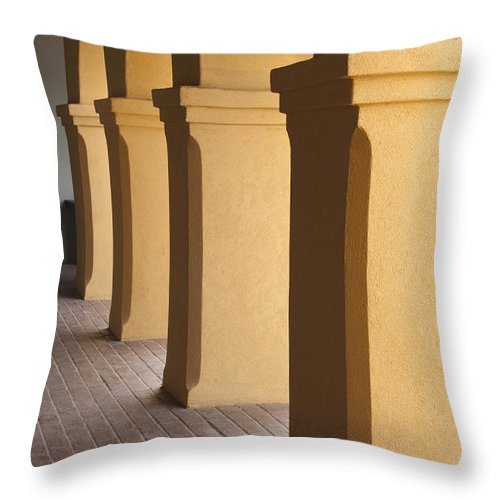 Sandra Bronstein Throw Pillow featuring the photograph Courtyard Entry by Sandra Bronstein