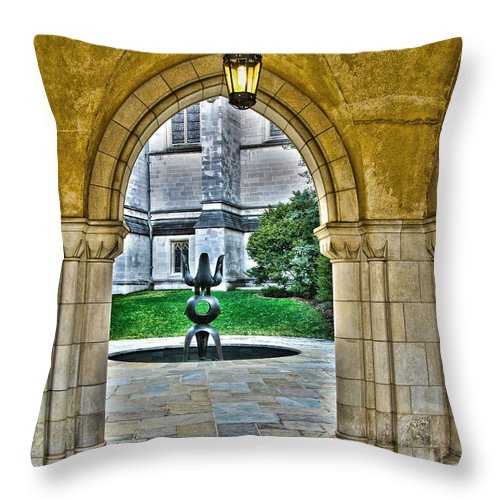 Courtyard Throw Pillow featuring the photograph Courtyard by Jack Schultz