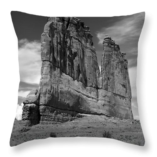Black And White Throw Pillow featuring the photograph Couthouse Iv by Robert Bales