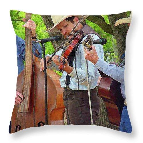 Cowboy Throw Pillow featuring the photograph Cowboy Music by Nina Fosdick