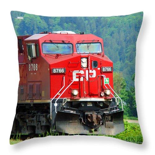 Trains Throw Pillow featuring the photograph Cp Coal Train by Randy Harris