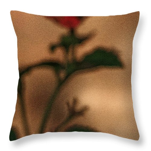 Lantana Bush Throw Pillow featuring the photograph Cracked Flower by Kim Henderson