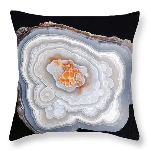 Agate Throw Pillow featuring the photograph Crazy Lace by Bill Morgenstern