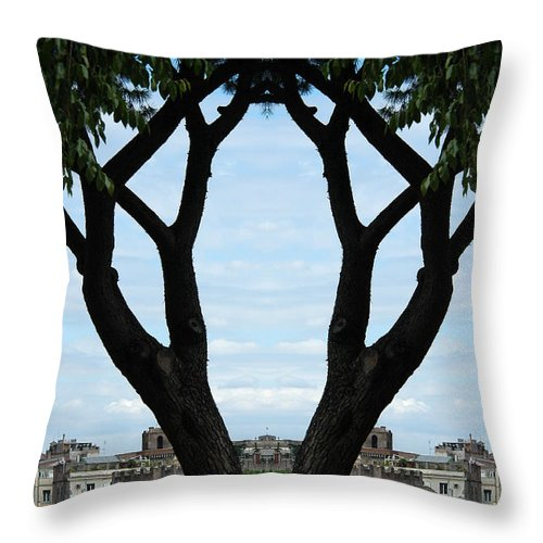 Rome Throw Pillow featuring the photograph Creation 1 by Mike Nellums