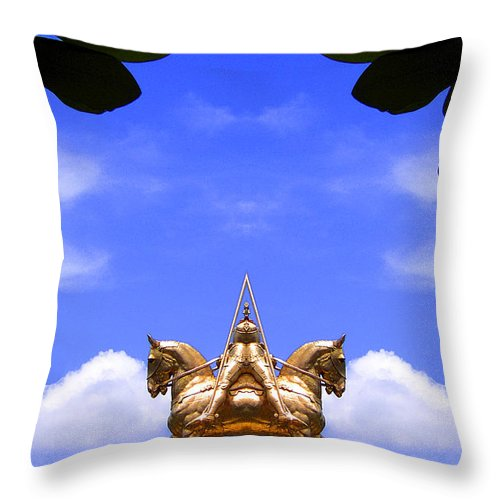 Throw Pillow featuring the photograph Creation 102 by Mike Nellums