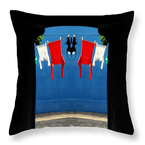 Throw Pillow featuring the photograph Creation 42 by Mike Nellums