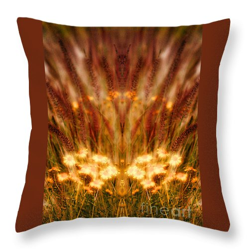 Throw Pillow featuring the photograph Creation 58 by Mike Nellums