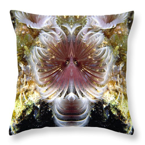 Throw Pillow featuring the photograph Creation 70 by Mike Nellums