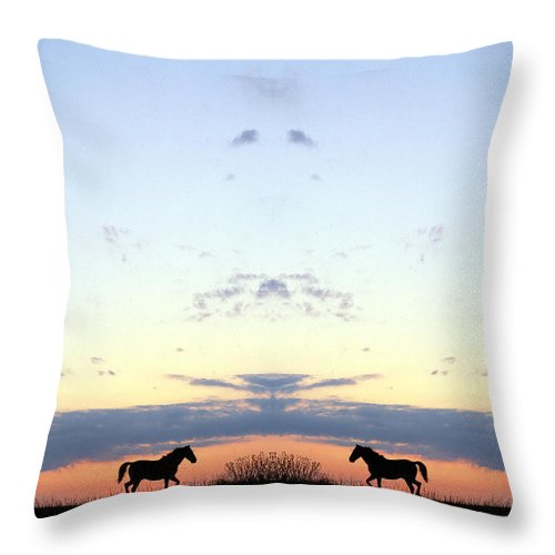 Throw Pillow featuring the photograph Creation 94 by Mike Nellums