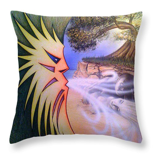 Creation Throw Pillow featuring the drawing Creation by Shaun McNicholas