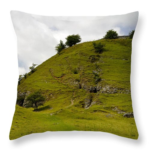Derbyshire Throw Pillow featuring the photograph Cressbrok Dale Meets Tansley Dale by Rod Johnson