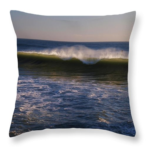 Water Throw Pillow featuring the photograph Cresting To The Glory by Teri Schuster
