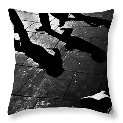 Black And White World Photographer Throw Pillow featuring the photograph Crooks And Ties by The Artist Project