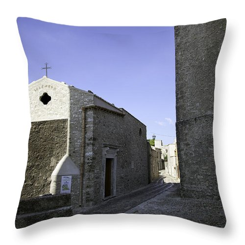 Church Throw Pillow featuring the photograph Cross Road 1 by Madeline Ellis