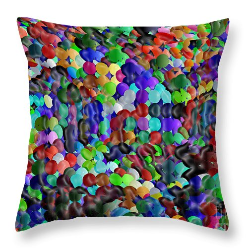 Ebsq Throw Pillow featuring the digital art Crowded Quarters by Dee Flouton