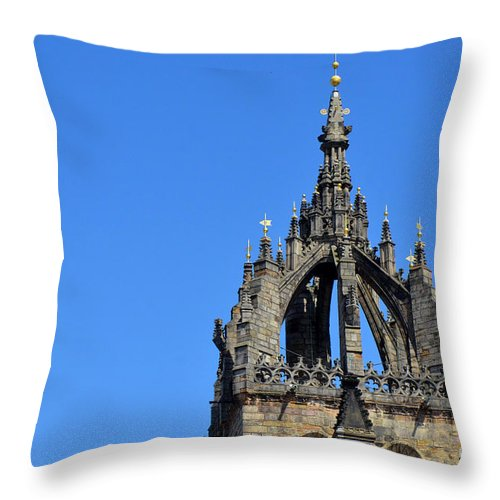 Steeple Throw Pillow featuring the digital art Crown Steeple by Pravine Chester