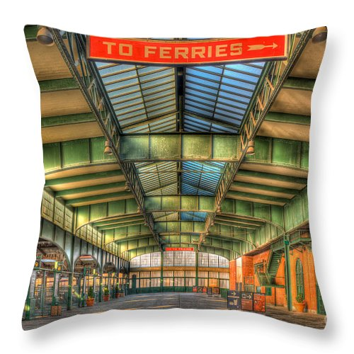 Clarence Holmes Throw Pillow featuring the photograph Crrnj Terminal I by Clarence Holmes