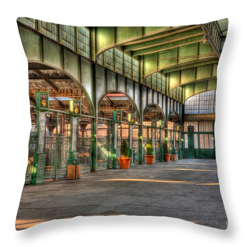 Clarence Holmes Throw Pillow featuring the photograph Crrnj Terminal II by Clarence Holmes