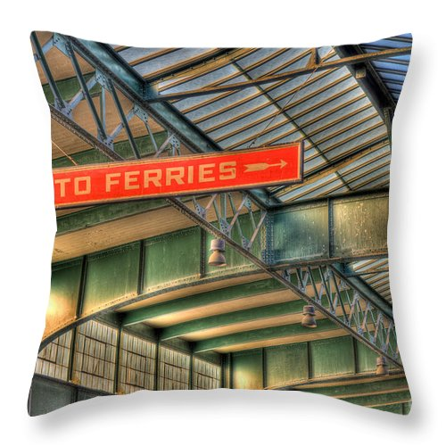 Clarence Holmes Throw Pillow featuring the photograph Crrnj Terminal Iv by Clarence Holmes