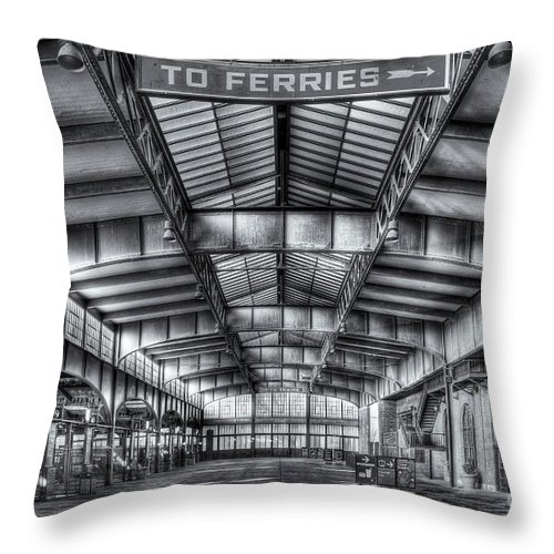 Clarence Holmes Throw Pillow featuring the photograph Crrnj Terminal V by Clarence Holmes