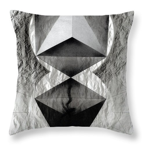 Lithograph Throw Pillow featuring the photograph Crucible by David Kleinsasser