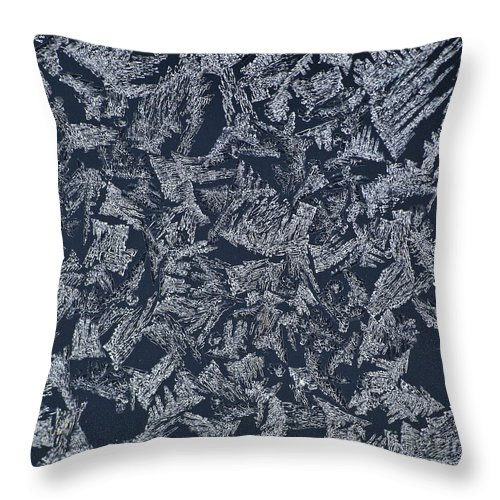Ice Throw Pillow featuring the photograph Crystal 10 by Sabine Jacobs
