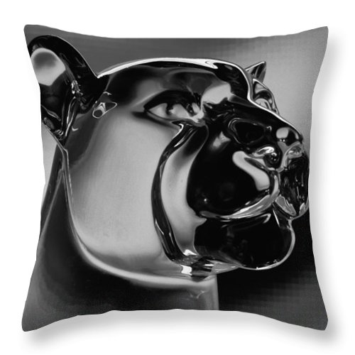 Washington State University Throw Pillow featuring the photograph Crystal Cougar by David Patterson