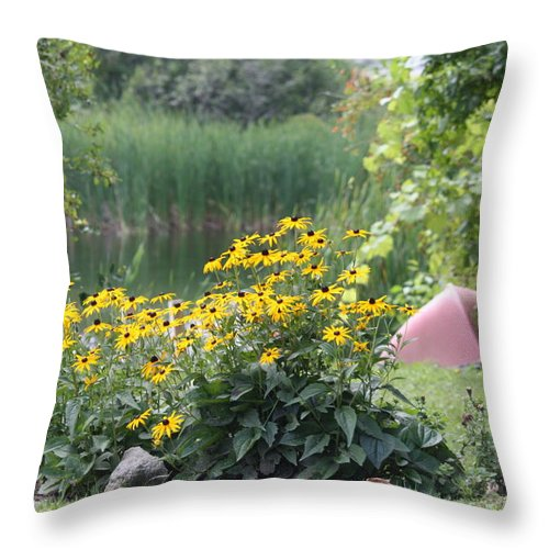 Lake Throw Pillow featuring the photograph Crystal Lake State Park In Barton Vermont by Donna Walsh