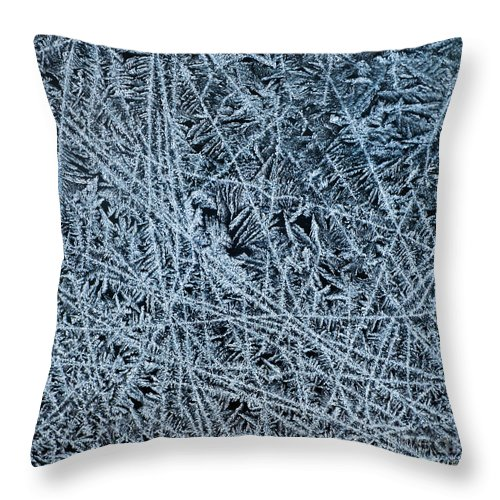 Ice Throw Pillow featuring the photograph Crystals 1 by Sabine Jacobs