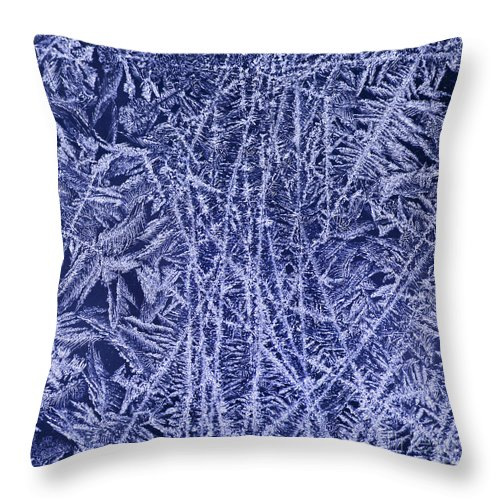 Ice Throw Pillow featuring the photograph Crystals 2 by Sabine Jacobs