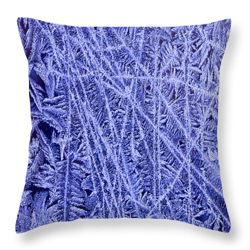 Ice Throw Pillow featuring the photograph Crystals 3 by Sabine Jacobs