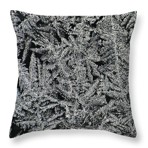 Ice Throw Pillow featuring the photograph Crystals 8 by Sabine Jacobs