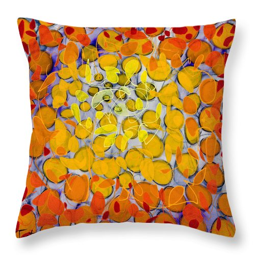 Abstract Throw Pillow featuring the painting Culmination Three by Lynne Taetzsch