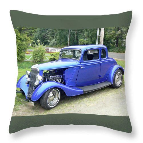 Model A Throw Pillow featuring the photograph Custom 34 Ford by Pamela Patch