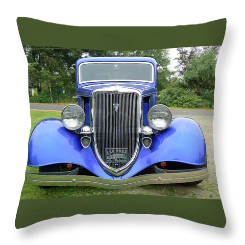 Ford Throw Pillow featuring the photograph Custom 34 by Pamela Patch