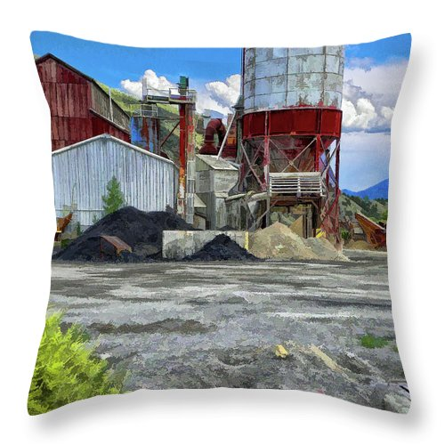 Santa Throw Pillow featuring the photograph D And Rg Rail Yard In Salida Co by Charles Muhle